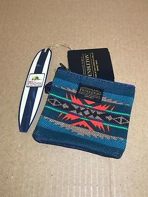Pendleton Printed Canvas Coin Pouch Lahaina Wave Brand New With Tags
