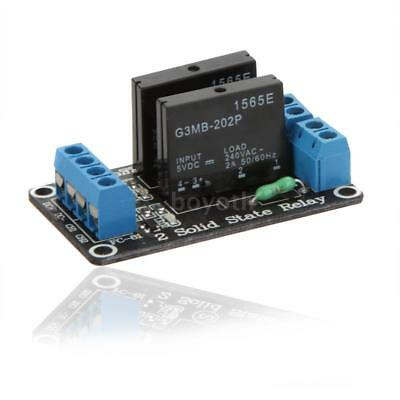 New 5V 2 Channel Low Level Solid State Relay SSR Module w/ Resistive Fuse J4Q5
