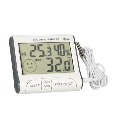 Digital LCD Humidity Hygrometer Temperature Thermometer Indoor and Outdoor N0U9