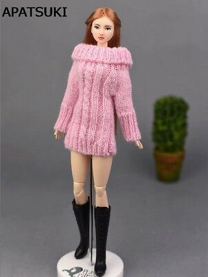 """Doll Accessories Knitted Woven Sweater For 11.5"""" Doll Tops Coat Dress Clothes"""