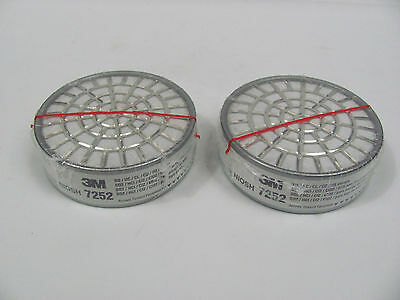 New Lot Of 2 3M 7252 Acid Gas Cartridges Filters For 7000 Series Mask Respirator