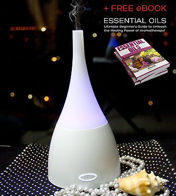 Portable Aroma Diffuser Ultrasonic Humidifier for Essential Oils by Boxiki Care