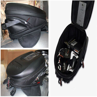 9L-12L Durable Motorcycle Motocross Tank Bag Storage Stylish Carbon Fiber Look