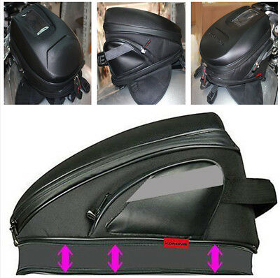 Motorcycle Tank Bag Riding Bag Luggage Extensible Bag Stylish Carbon Fiber Look