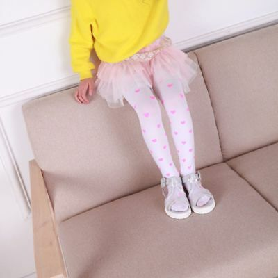 Baby Tights Full Foot Kids For Girls Toddler Love Heart Pantyhose Trousers