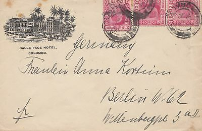 Ceylon: 1909: Galle Face HOtel Colombo to Berlin