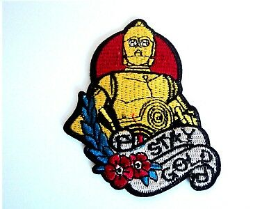 1x Star Wars C3PO Patches Embroidered Cloth Patch Applique Badge Iron Sew On