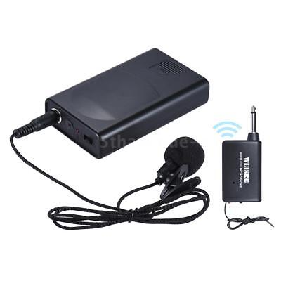 Portable Lavalier Lapel Collar Clip-on Wireless Microphone Voice Amplifier A7Q8