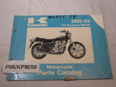 Kawasaki Z650-D2  Z650D Z650 D D2 Sr650 Parts List  Catalogue Catalog