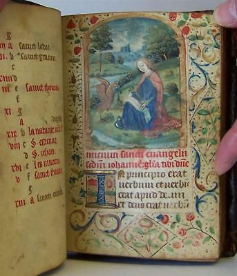 Medieval Book of Hours - Latin Manuscript - LES HEURES