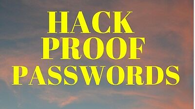 Hack Proof Password for all online services