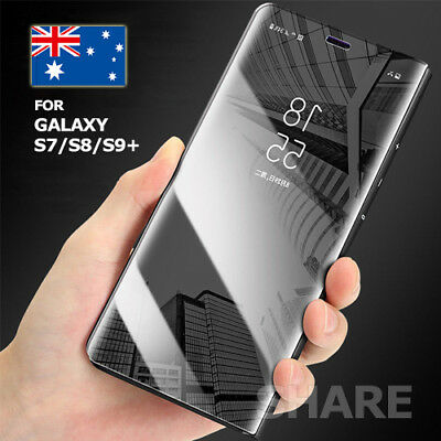 New Slim Cover Luxury Mirror Flip Case for Samsung Galaxy S9 S8 S8+ Plus Note 8