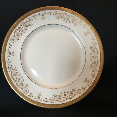 Royal Doulton Belmont Gold 10 1/2  Inch Dinner Plate - H4991 - 1st Quality
