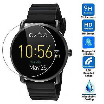 For Fossil Q Wander Smart Watch Guard Cover Tempered Glass Film Screen Protector