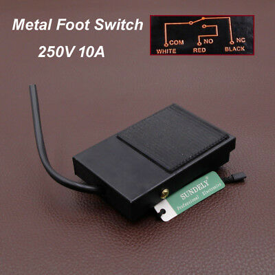 3X Metal Momentary Contact Antislip Pedal Industrial Foot Footswitch AC 25 K9E2