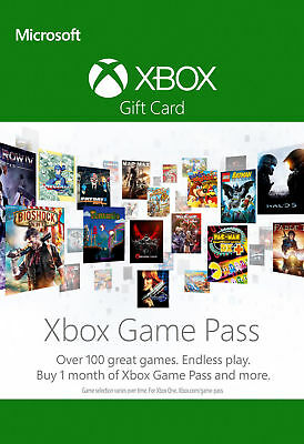 Xbox One Game Pass 1 Month Trial Subscription Card *READ DESCRIPTIONS*