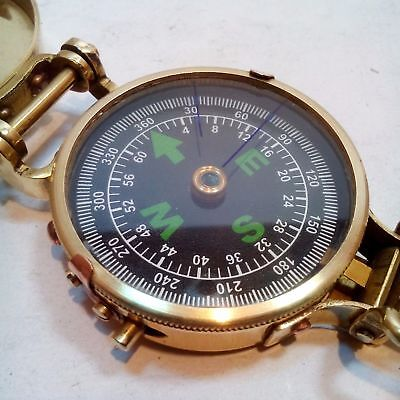 "Brass Military Compass 3"" Lensatic Navigation Pocket Hiking Camping Gift Compass"