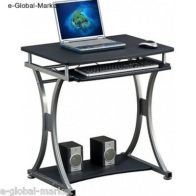 Computer Desk Office Home Table PC Black Furniture Workstation Laptop Keyboard