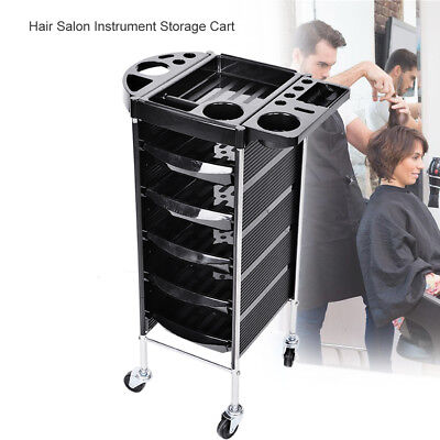 Salon Hairdresser Trolley Drawers Beauty Storage Hair Colouring Spa Roller Cart^