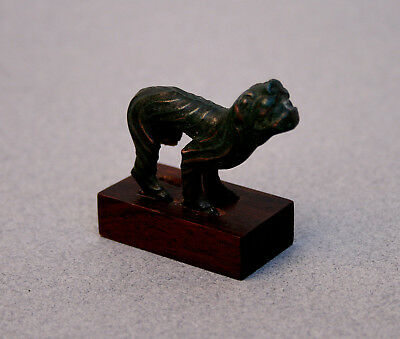 Antique Chinese Bronze Tiger Han Dynasty - French Flea Market Find
