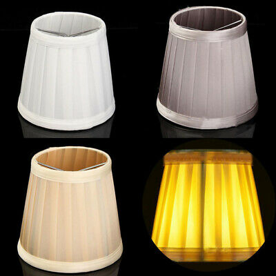 Modern Style Table Lamp Shade Light Bulb Fabric Bedside Lampshade Home Decor
