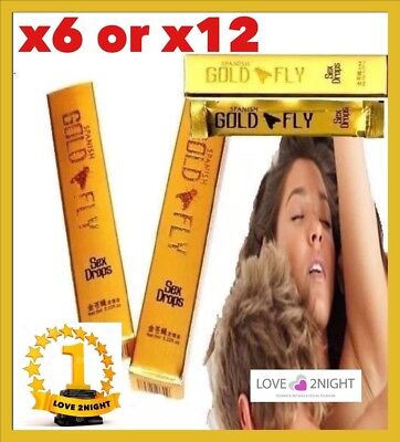 Spanish Gold Fly For Women / Sexual Enhancer / 5ml Drop Tubes / LOVE 2NIGHT