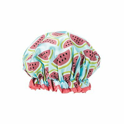 Danielle Creations Watermelon Print Oversized Ruffle Edge Shower Cap - One Size