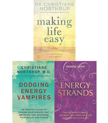 Making Life Easy Dr Christiane Northrup Health and Power 3 Books Collection Set