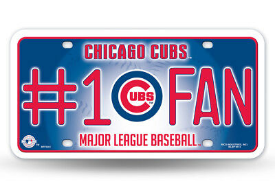 Chicago Cubs Diamond Embossed Licnese Plate Tag Wall Sign Metal Truck Auto