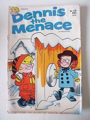 Dennis The Menace Issue # 119. Fawcett Comics March 1972. Vg. Scarce In The Uk