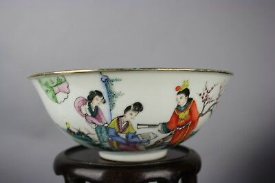 20th C. Chinese Famille-rose Figural Bowl