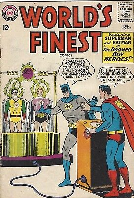 DC Comic Worlds Finest Issue 147 February 1965 Superman & Batman The Doomed Boy