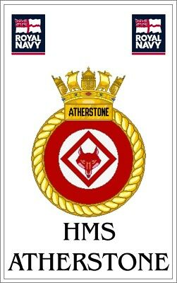 HMS Atherstone Royal Navy crested Fridge Magnet