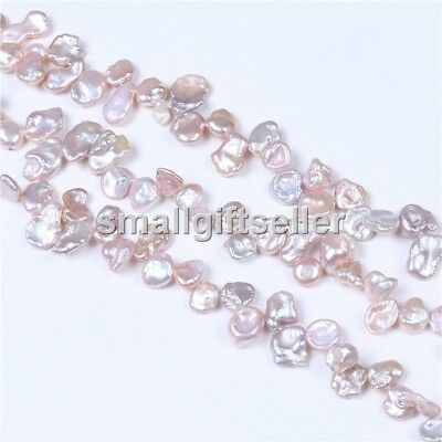 Wholesale AA Natural 8-9mm Purple Keshi Pearl Beads 1 Strand Loose 15''