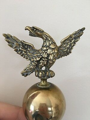 Quality Antique Brass Ball & Eagle Finial Clock Grandfather Ornament Decoration