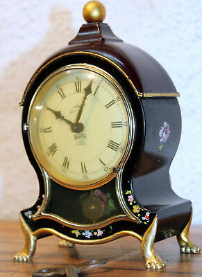 Old little miniature Bracket Clock Louis Philippe Music Box Smidt 8 Day 4Jewels