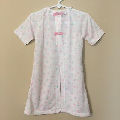 Vintage Carters Infant Girls Newborn Layette Gown Pink Floral A112