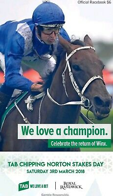 2018 Chipping Norton Stakes Winx Race Book