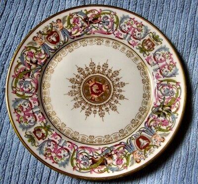 Fab. Sevres Royal Service Plate Louis Phillipe Dated  Chateau St Cloud,1846