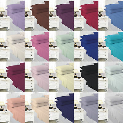 Small Single Bunk Bed Fitted Bed Sheet Poly Cotton Plain Dyed 2 Ft 6 Inch
