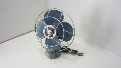 VINTAGE Handy Breeze Fan Chicago Electric Silex CAST IRON BASE 3328N