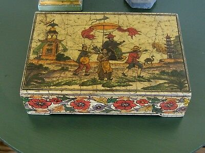 antique style wood box Jeanne Reeds ltd. chinoiserie high quality good looking
