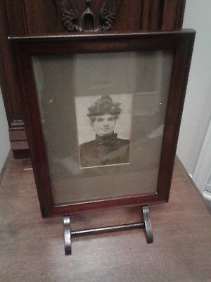 Antique Frame Table Top Man Dressed As Woman Photo