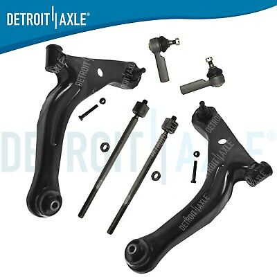 NO HYBRID 12pc Front Lower Control Arms w//Ball Joints Inner Outer Tie Rods w//Rack Boots 2009 Mazda Tribute Front /& Rear Sway Bar Kit for 2009 Ford Escape - 2009 Mariner Detroit Axle