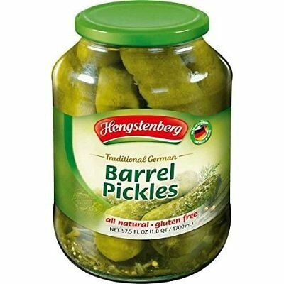 Hengstenberg Traditional German Barrel Pickles, 57.5 Ounce (Pack of 2 )