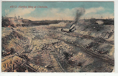 Lithograph - Mining - Hartley Mine at Chisholm - early 1900s