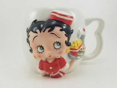 """Betty Boop Classic Bust """"betty's Diner"""" Mug Cup King/fleisher/hearst-Nj Croce Co"""