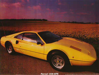 Small Poster: Cars :old Ferrari - 308-Gts -  Free Shipping ! #17-764  Rc15 G