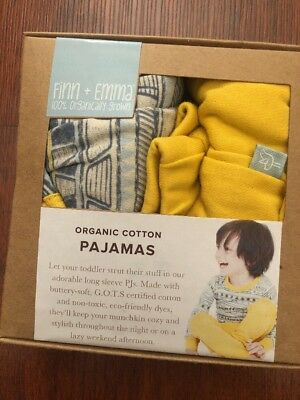 "Unisex Toddler Pajamas Organic Cotton"" Tribal "" Fits Size 2T Finn + Emma - NEW"