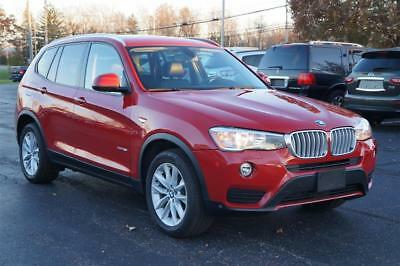 X3 xDrive28i NAVIGATION PANORAMIC SUNROOF AWD 2015 BMW X3 xDrive28i NAVIGATION PANORAMIC SUNROOF AWD 54,604 Miles Red  2.0L Tw
